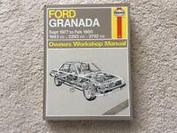 Haynes Ford Granada workshop manual