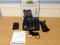 SOUTHERN TELECOM EM300 SPEAKERPHONE BIG BUTTON CORDED TELEPHONE - BLACK