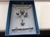 Stunningly Pretty Gift Set of Silver Jewellry - Still in Presentation Box.