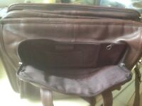 Magnificent never used Brown leather Satchel/ brief case
