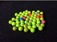 45 Coloured golf balls