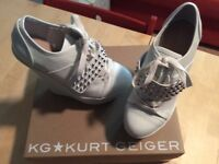 New Kurt Geiger Ladies White Studded Shoe