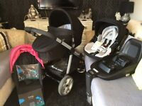 icandy apple to pear pram/buggy +