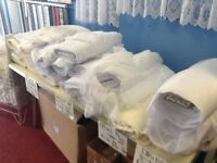 Net curtains full rolls new