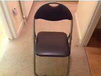 Black fold up Argos chair
