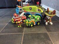 Paw patrol jungle set