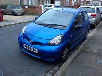 Toyota aygo blue 996 cc ONE owner from new cdradio electric mirrors electric Windows