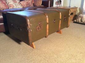 Refurbished Steamer Trunk Coffee table
