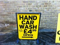 Hand Car Wash Sign