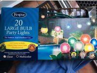 20 large bulb party lights