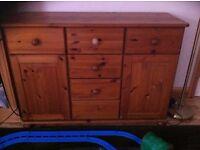 Pine Chest Drawers Dresser Cupboard