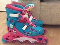Girls Hello Kitty in line roller blades / skates size 13-3