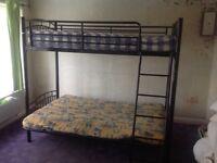 Black Metal Futon Bunk Bed