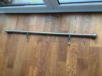 CHROME CURTAIN POLE 135cm