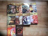 10 X Steven saylor books