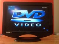 Ferguson 22 inch Slim HD LED TV built in Freeview, DVD, perfect working condition