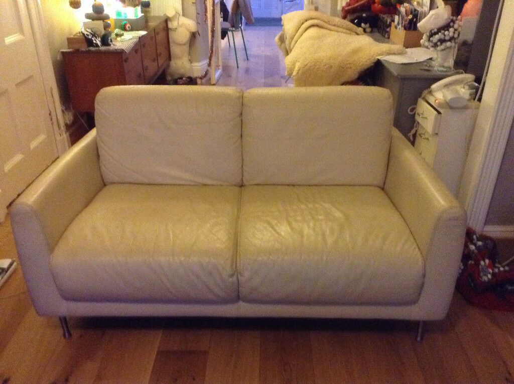 Ikea Small Leather Sofa Ivory Ives Cornwall Gumtree