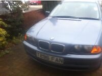 BMW 318i, Petrol, Manual. MOT Sept 2017. Well maintain and good service history. A good runner.