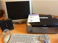 Siemens keyboard, mouse and speakers Philips moniter and Epson r200 printer