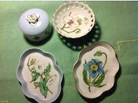 Juliet Chamberlain, hand painted china