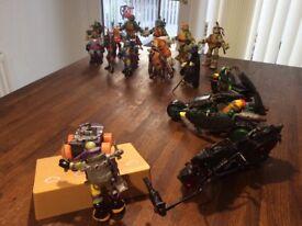 For sale is 15 Teenage Mutant Ninja Turtles complete with 3 vehicles