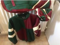 Horse riding clothes and small riding equipment