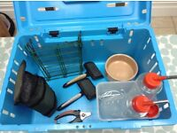 Small Pet Carrier and Accessories - suitable for Rabbit or Guinea Pigs
