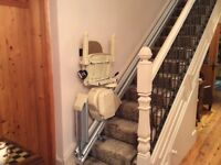 Stair lift solutions stair lift for sale. As New.3 years old.