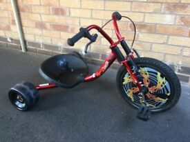 Urban X Street Monster trike with 16 inch BMX wheel, in great condition. Age 5-8. Category Kids bike