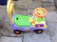 Winnie the poo push along car