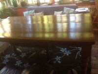Large dining table 8ftx4ft for farmhouse kitchen
