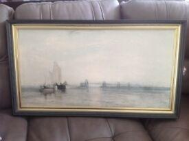 Turner print framed