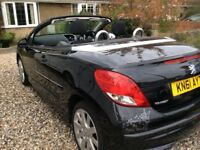 LOW Millage Peugeot 207 cc 1.6 Vti Cabriolet, full service history