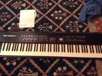 Roland RD700GX keyboard plus stand plus Roland KC150 amplifier