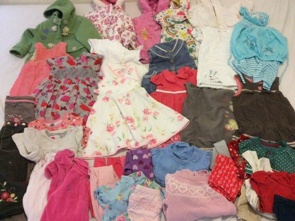 Girl clothes bundle 9-12 months 35 items