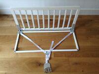 Baby Dan bed rail guard. White wood