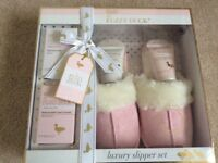 PINK SLIPPER GIFT SET PLUS NEXT DRESSING GOWN