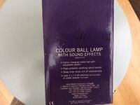 Colour ball lamp with sounds new in box