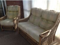 Conservatory Suite: 2 seater sofa and 2 armchairs