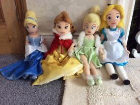 Disney Princess soft toys . Cinderkerbell and Alice .