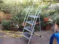 Four tread folding ladder