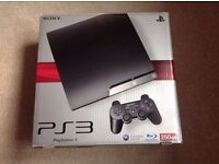 Sony Playstation 3 Slim, 250 GB with 2 Controllers & 2 games & PS3 Blu-ray Remote - All Immaculate