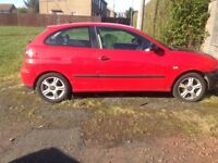 Seat Ibiza for spares or repair, new exhaust, gearbox,clutch, pressure plate and new tyres.