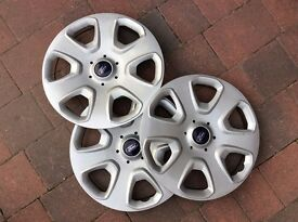 FORD Ka Wheel Trim Hub Caps. Qty 3. To fit R14 wheel.