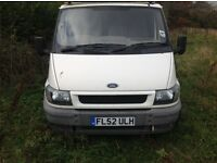 White transit van - runs great - everything works - no mot - needs welding or spares/repair