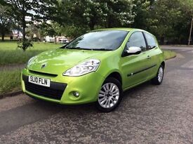 * 2010 * RENAULT CLIO * 1.2 16v I-MUSIC EDITION * 1 YEAR M.O.T * F/S/H * BLUETOOTH * ALLOYS *