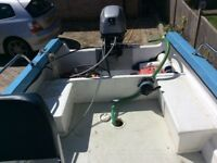 14ft Parker Fishing boat trailer and 10hp Mariner outboard