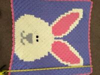 Bunny crochet blanket