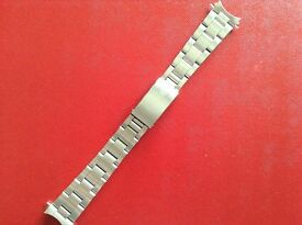 ROLEX OYSTER STAINLESS STEEL BRACELET 1975 BRACELET & ROLEX CLASP ONLY NO WATCH FITS 17mm LUGS