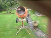 Belle concrete mixer and stand